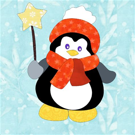 penguin applique penguin applique pattern by sew patterns craftsy