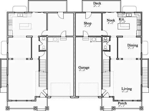 Craftsman Luxury Duplex House Plans With Basement And | craftsman luxury duplex house plans with basement and