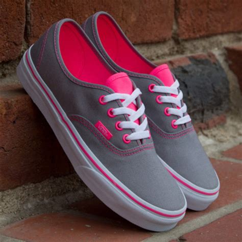the pink and grey look nice with the paint color eden s shoes vans grey pink sneakers bag pink and grey