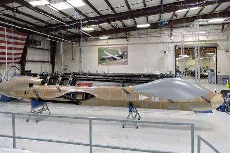 General Atomics Background Check Certifiable Predator B Fuselage Integration Begins Uas Vision