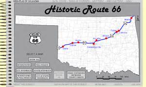 Route 66 Oklahoma Map by Historic Route 66 In Oklahoma