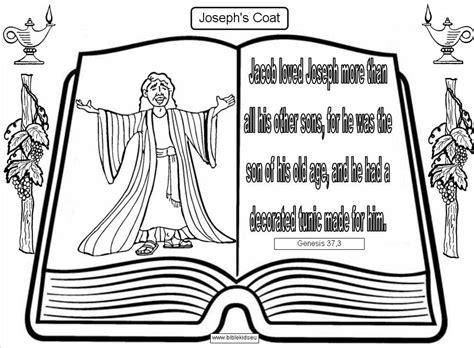 coloring page joseph coat of many colors az coloring pages
