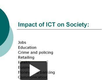 powerpoint templates for ict ppt impact of ict on society jobs education crime and