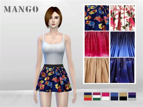 the sims 4 mr saxobeat skirt hair physics animation fashionista s skater skirt pinny by mclaynesims at tsr