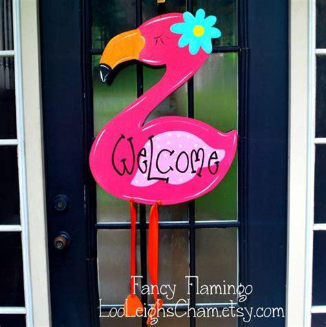 Summer Door Decorations by Summer Door Hanger Flamingo Door Decoration Summer