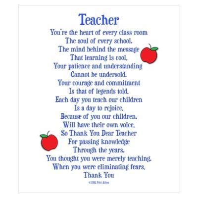 thank you letter for teachers day 25 best ideas about poems on