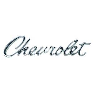 Chevrolet Script Decal Chevrolet Header Emblem Jeff S Cars And Classics