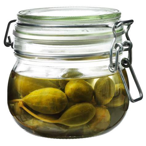 ikea korken glas korken jar with lid clear glass 0 5 l ikea