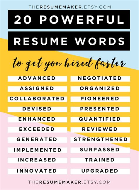 Power Words For Resumes by Best 25 Resume Templates Ideas On Cv Template