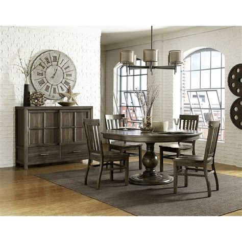Magnussen Dining Room Furniture Karlin Wood Oval Dining Table Chairs In Grey Acacia By Magnussen Home Dining