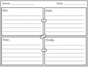 4 Square Writing Template by 2nd Grade Smarty Arties Taught By The Groovy