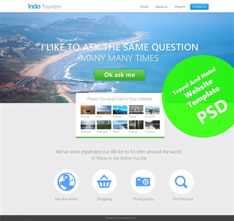 Beautiful Travel And Hotel Website Template Psd For Free Download Freebie No 70 Free Website Design Templates