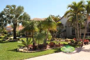 Tropical Front Garden Ideas Front Yard Landscape Tropical Landscape Miami By Broward Landscape Inc