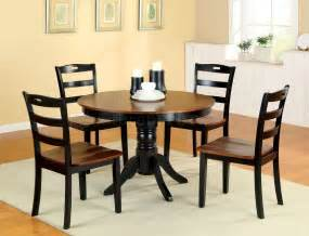 Small Kitchen With Dining Table Cm3027rt Johnstown 5pc Dining Set In Antique Style Oak Black