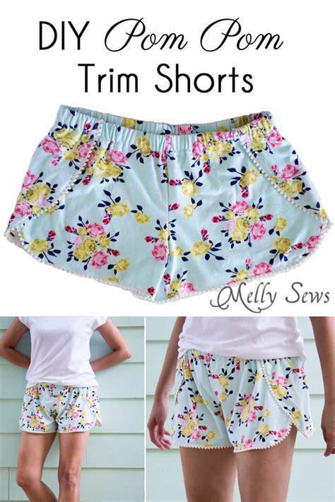 free pattern shorts sew pom pom shorts with free pattern melly sews