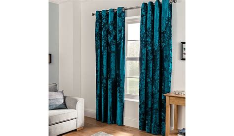 teal velvet curtains embossed crushed velvet eyelet curtains teal home