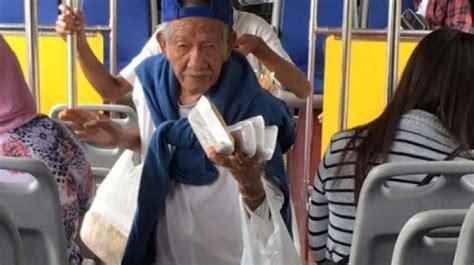 viral kakek   banting tulang jualan  bus tekno