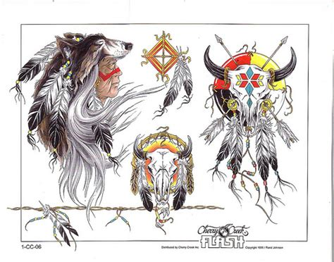 cherry creek tribal tattoo flash sheet 1 06