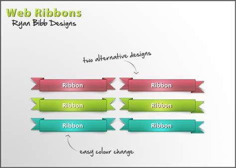 website ribbon tutorial ribbon vector free collection psddude