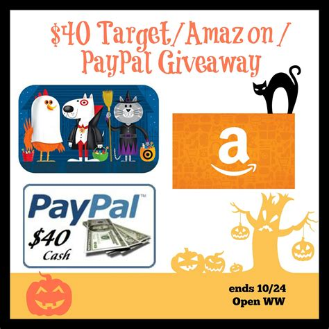 Flash Giveaway - halloween flash giveaway 40 target amazon or paypal it s free at last