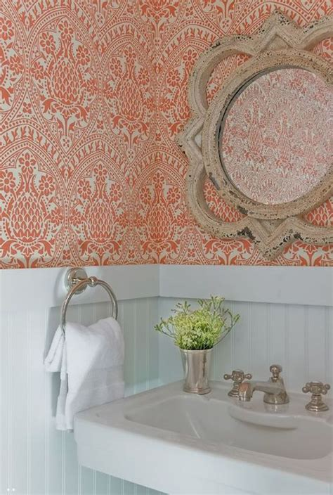 beadboard wallpaper bathroom powder room beadboard transitional bathroom jd interiors
