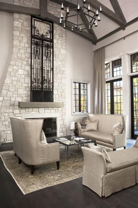 gray wood beams transitional living room sherwin