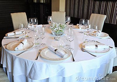 fancy table set   dinner stock image image
