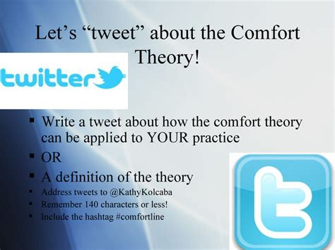 comfort care definition comfort theory kathy kolcaba presentation by erin
