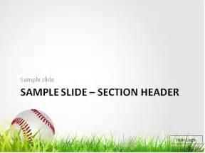 free baseball powerpoint template free baseball in the grass powerpoint template
