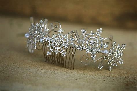 Hair Clip Hairpin Wedding Accessories Snowflakes Hiasan Rambut Pesta winter wedding hair accessories rhinestone snowflake comb