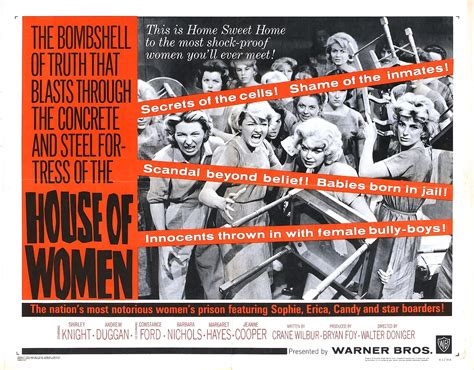 house of women poster for house of women 1962 usa wrong side of the art