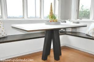 Breakfast Nook Dining Table How To Make A Diy Breakfast Or Dining Table House Updated