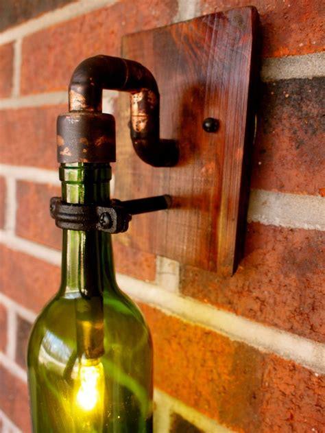 wine bottle light lamp industrial sconce exterior