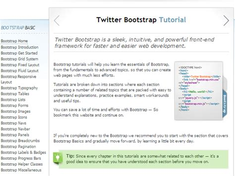 tutorial menggunakan bootstrap twitter learn twitter bootstrap best tutorial point for beginners