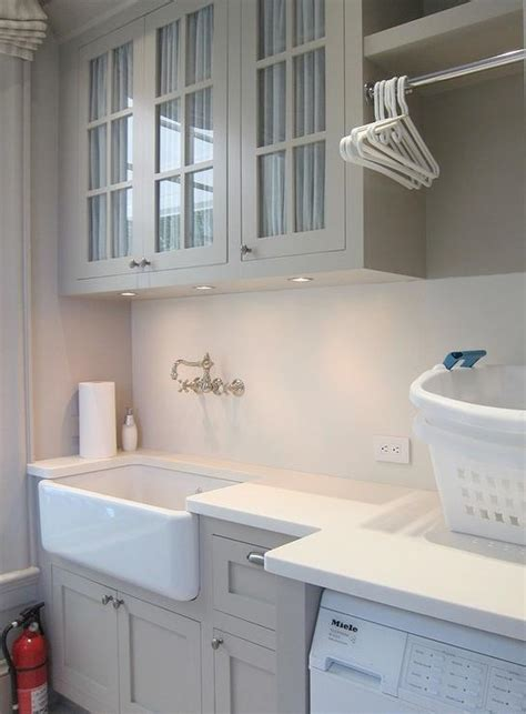 greige design laundry room laundry room sink transitional laundry room brooks