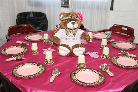 Leopard And Pink Baby Shower Decorations by Pink And Leopard Baby Shower Ideas Photo 1 Of 23 Catch