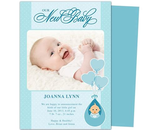 word templates for birth announcements m 225 s de 1000 im 225 genes sobre baby birth announcement