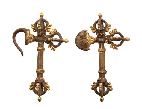 Set Kartika set parashu dorje vajra kartika sceptre ritual buddhist
