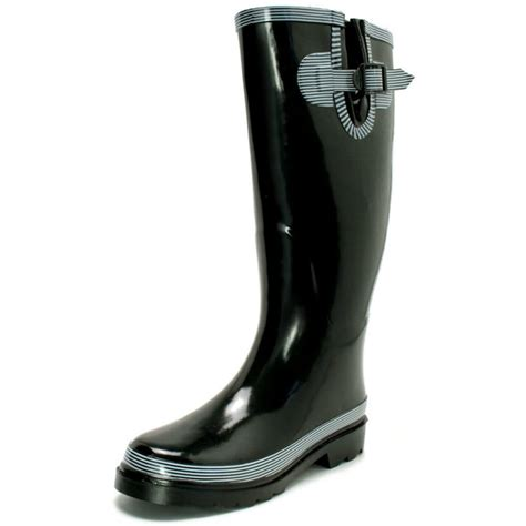 womens black snow wellies wellington boots from