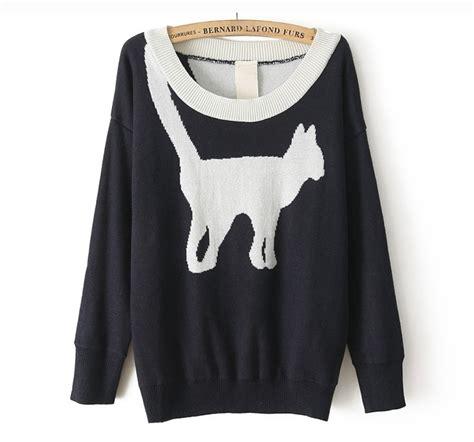 cat sweater pattern knit cat pattern knit sweater on luulla