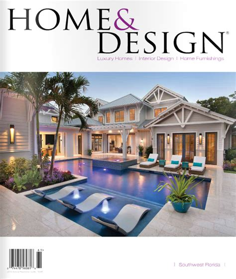 home design magazine in gulf tile cabinetry contributes to a project featured in