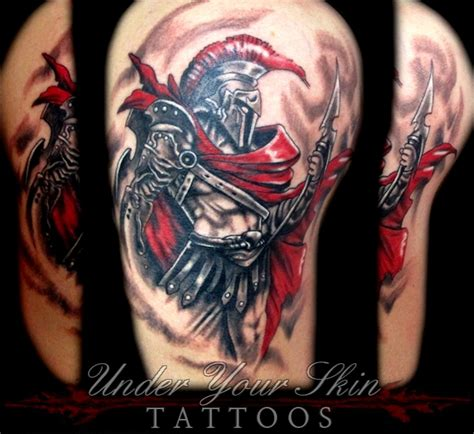 ares god of war tattoo craig necker certified artist