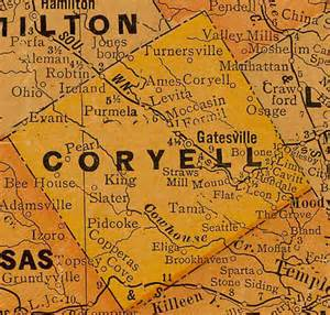 coryell county map coryell county