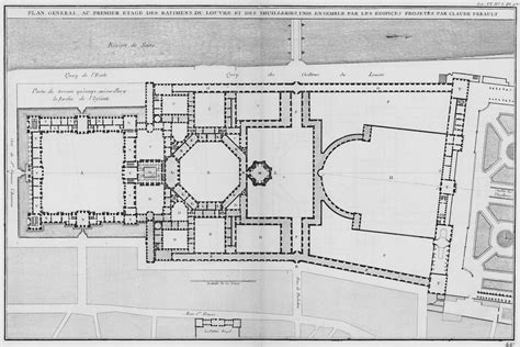 the louvre floor plan a plan of the louvre s cour carr 233 e and the of the