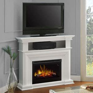 colleen wall or corner electric fireplace media console in