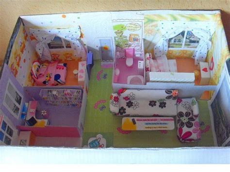 shoe box doll house i know i m not the only one that turned some shoe boxes