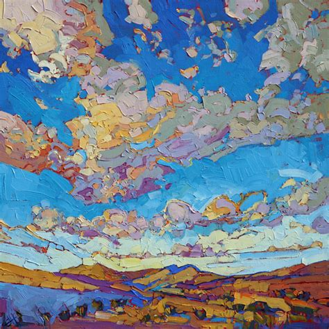 painting impressionism modern large original erin hanson driving sky 24 x 24 southwest
