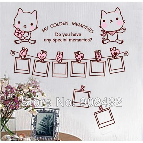 framing vinyl wall decals removable vinyl wall sticker hello photo frame home