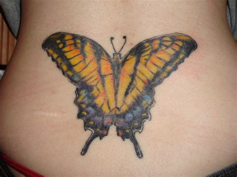 butterfly design tattoo tattoos back tattoos lower back butterfly design