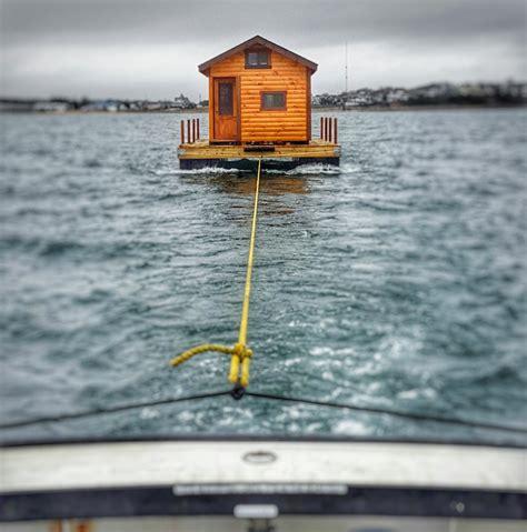 jeffrey s 260 sq ft floating amish log cabin